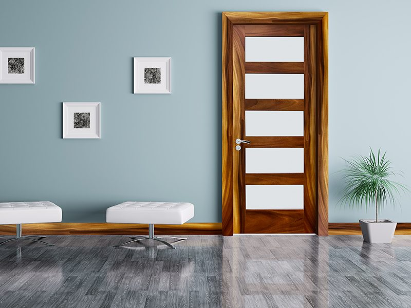 Sanded glass Acacia door shaker style & Acacia Wood - Leadvision International