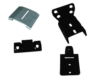 Kit of hybrid railing bracket  for hybrid straight rail