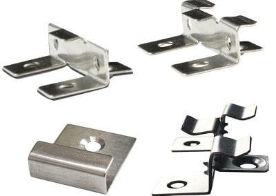 Ensemble d'attaches universelles en acier inoxidable - couvre 50 pi2